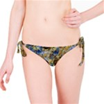 Antique Anciently Gold Blue Vintage Design Bikini Bottom