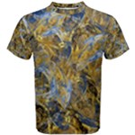 Antique Anciently Gold Blue Vintage Design Men s Cotton Tee