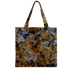 Antique Anciently Gold Blue Vintage Design Grocery Tote Bag by designworld65