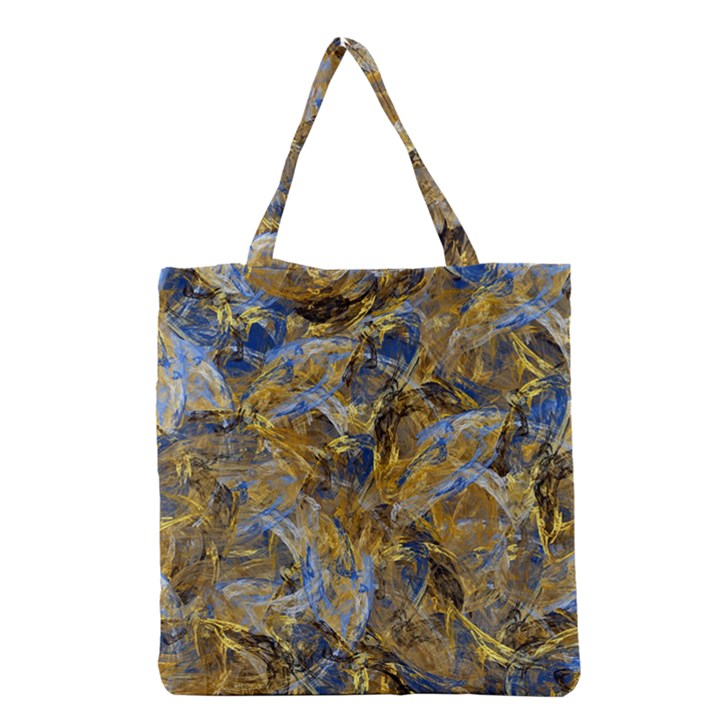 Antique Anciently Gold Blue Vintage Design Grocery Tote Bag