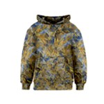 Antique Anciently Gold Blue Vintage Design Kids  Pullover Hoodie