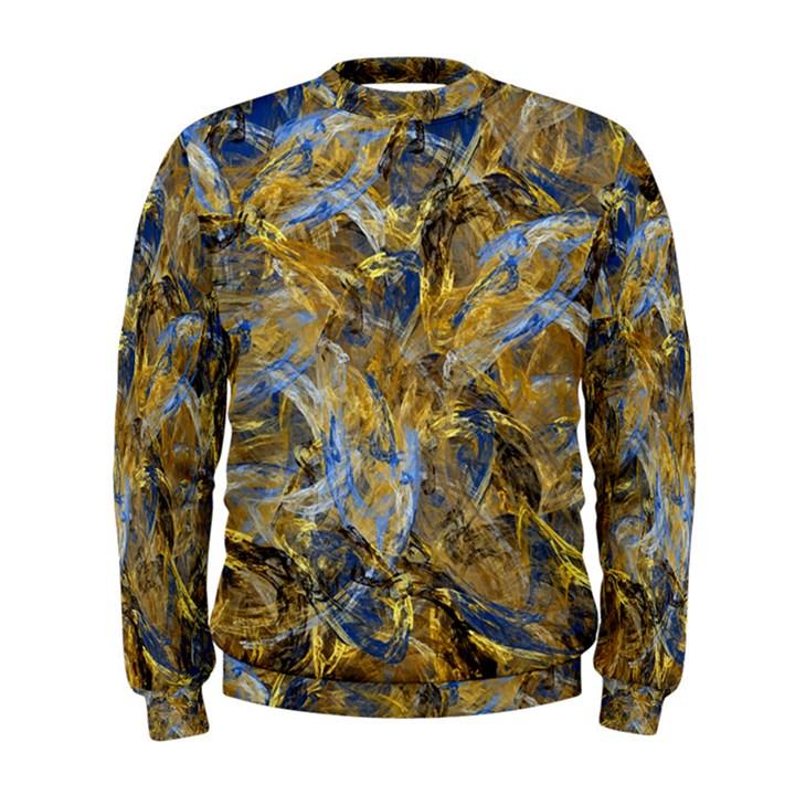 Antique Anciently Gold Blue Vintage Design Men s Sweatshirt