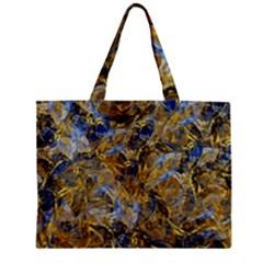 Antique Anciently Gold Blue Vintage Design Zipper Mini Tote Bag