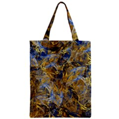 Antique Anciently Gold Blue Vintage Design Zipper Classic Tote Bag by designworld65