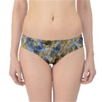 Antique Anciently Gold Blue Vintage Design Hipster Bikini Bottoms