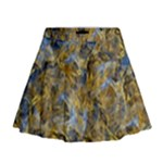 Antique Anciently Gold Blue Vintage Design Mini Flare Skirt