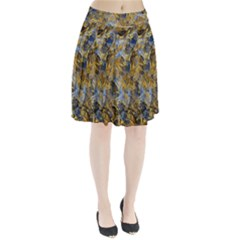 Antique Anciently Gold Blue Vintage Design Pleated Skirt by designworld65