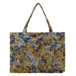 Antique Anciently Gold Blue Vintage Design Medium Tote Bag