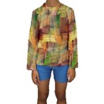 Indian Summer Funny Check Kids  Long Sleeve Swimwear
