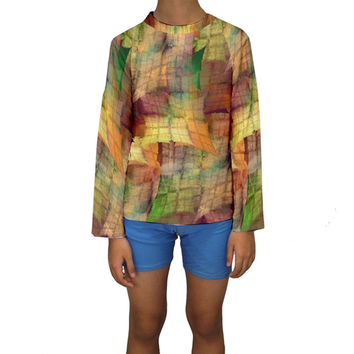 Indian Summer Funny Check Kids  Long Sleeve Swimwear