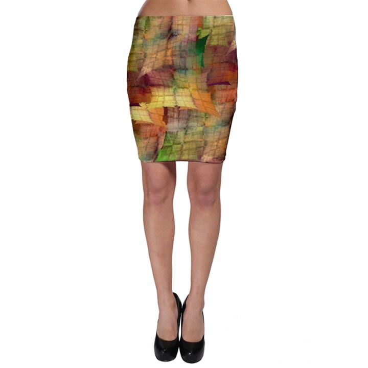 Indian Summer Funny Check Bodycon Skirt