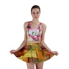 Indian Summer Funny Check Mini Skirt