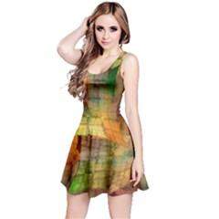 Indian Summer Funny Check Reversible Sleeveless Dress