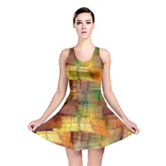 Indian Summer Funny Check Reversible Skater Dress by designworld65
