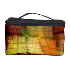 Indian Summer Funny Check Cosmetic Storage Case by designworld65