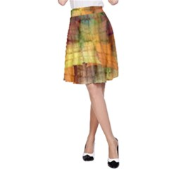 Indian Summer Funny Check A Line Skirt by designworld65