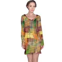 Indian Summer Funny Check Long Sleeve Nightdress