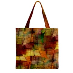 Indian Summer Funny Check Zipper Grocery Tote Bag by designworld65