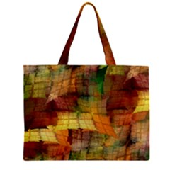 Indian Summer Funny Check Zipper Mini Tote Bag by designworld65