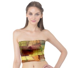 Indian Summer Funny Check Tube Top by designworld65