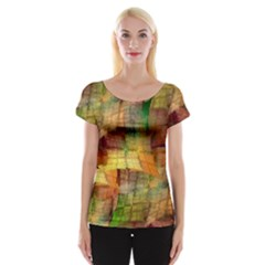 Indian Summer Funny Check Women s Cap Sleeve Top
