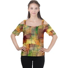 Indian Summer Funny Check Women s Cutout Shoulder Tee