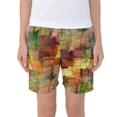Indian Summer Funny Check Women s Basketball Shorts by designworld65