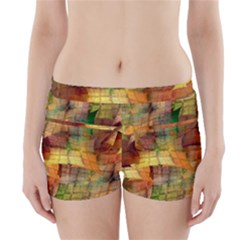 Indian Summer Funny Check Boyleg Bikini Wrap Bottoms