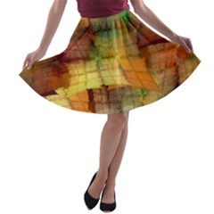 Indian Summer Funny Check A Line Skater Skirt
