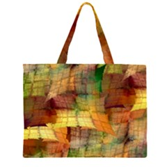 Indian Summer Funny Check Zipper Large Tote Bag by designworld65