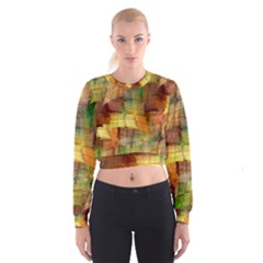 Indian Summer Funny Check Women s Cropped Sweatshirt by designworld65