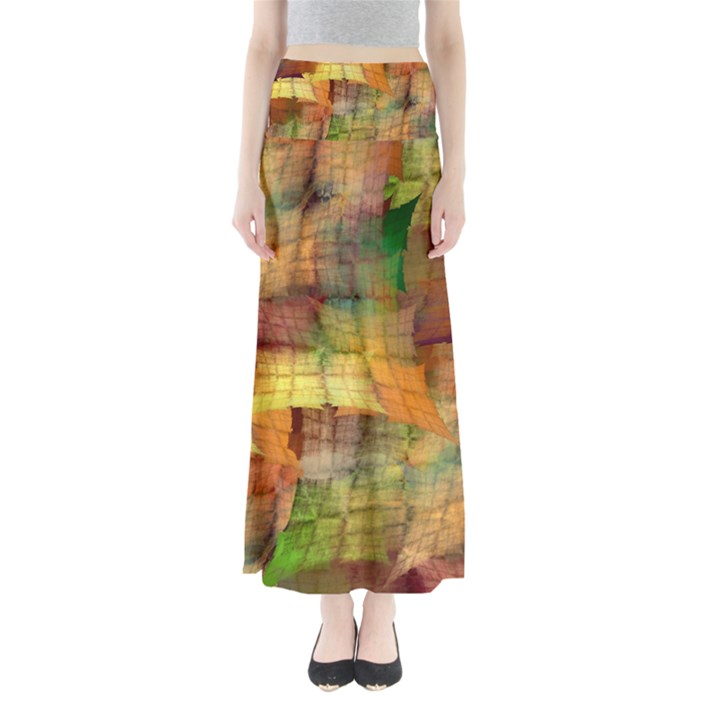 Indian Summer Funny Check Maxi Skirts