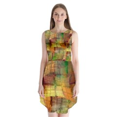 Indian Summer Funny Check Sleeveless Chiffon Dress   by designworld65