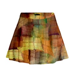 Indian Summer Funny Check Mini Flare Skirt by designworld65