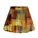 Indian Summer Funny Check Mini Flare Skirt