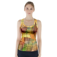Indian Summer Funny Check Racer Back Sports Top