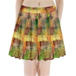Indian Summer Funny Check Pleated Mini Skirt