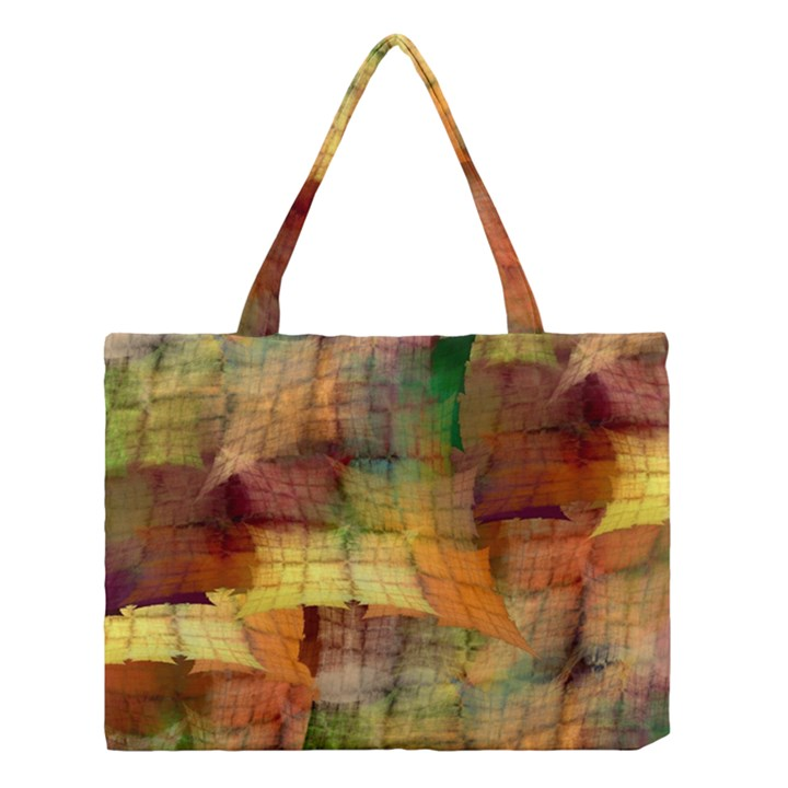 Indian Summer Funny Check Medium Tote Bag