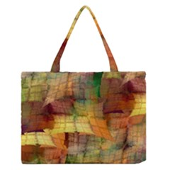 Indian Summer Funny Check Medium Zipper Tote Bag
