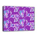 Cute Violet Elephants Pattern Canvas 16  x 12  View1