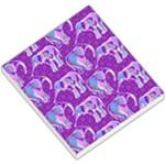 Cute Violet Elephants Pattern Small Memo Pads