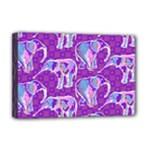 Cute Violet Elephants Pattern Deluxe Canvas 18  x 12