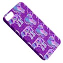 Cute Violet Elephants Pattern Apple iPhone 5 Classic Hardshell Case View5
