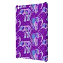 Cute Violet Elephants Pattern Apple iPad Mini Hardshell Case View3