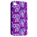 Cute Violet Elephants Pattern Apple iPhone 4/4S Hardshell Case (PC+Silicone) View2