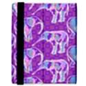 Cute Violet Elephants Pattern Samsung Galaxy Tab 8.9  P7300 Flip Case View3