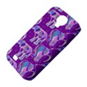 Cute Violet Elephants Pattern Samsung Galaxy S4 Classic Hardshell Case (PC+Silicone) View4
