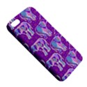 Cute Violet Elephants Pattern iPhone 5S/ SE Premium Hardshell Case View5