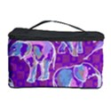 Cute Violet Elephants Pattern Cosmetic Storage Case View1