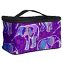 Cute Violet Elephants Pattern Cosmetic Storage Case View2